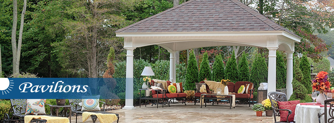 pavilion over outdoor living space